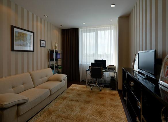 интерьер обоев в гостиной фото