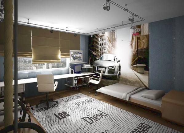Дизайн интерьера комнаты для подростка мальчика