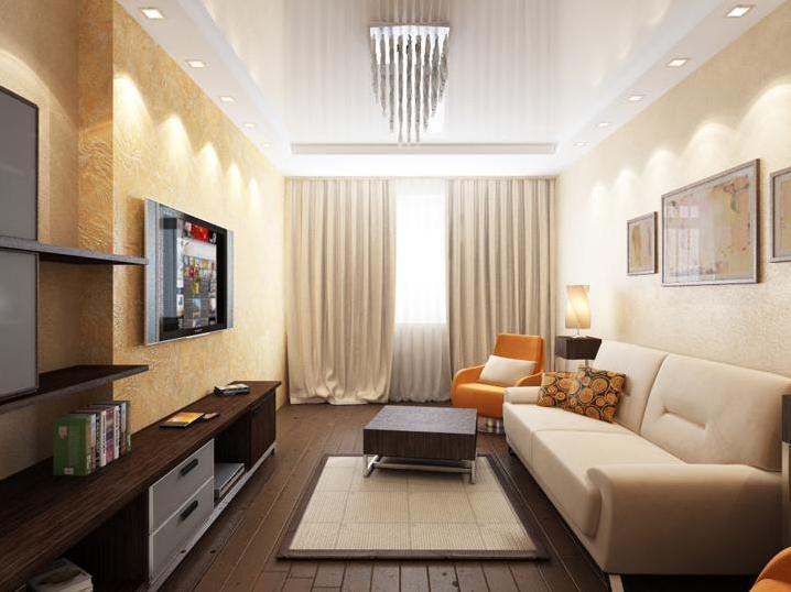 Дизайн зала с балконом 20 кв.м
