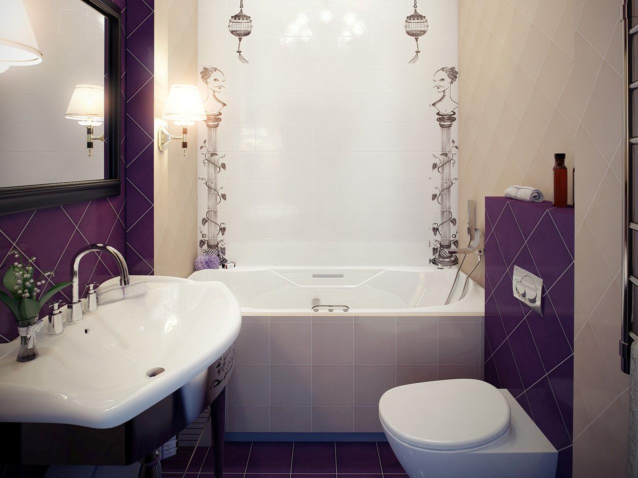 Интерьер ванной комнаты попроще