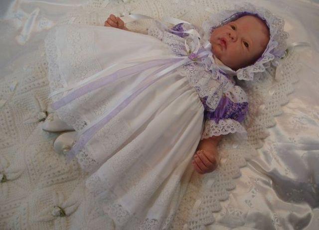 Платье для девочки на выписку своими руками 19