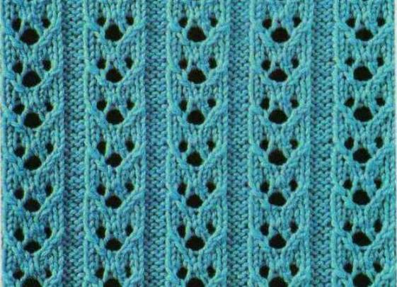 ажурные узоры для вязания шапок спицами