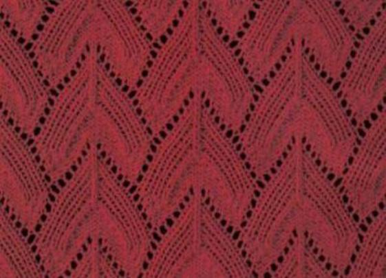 ажурные узоры для вязания варежек спицами