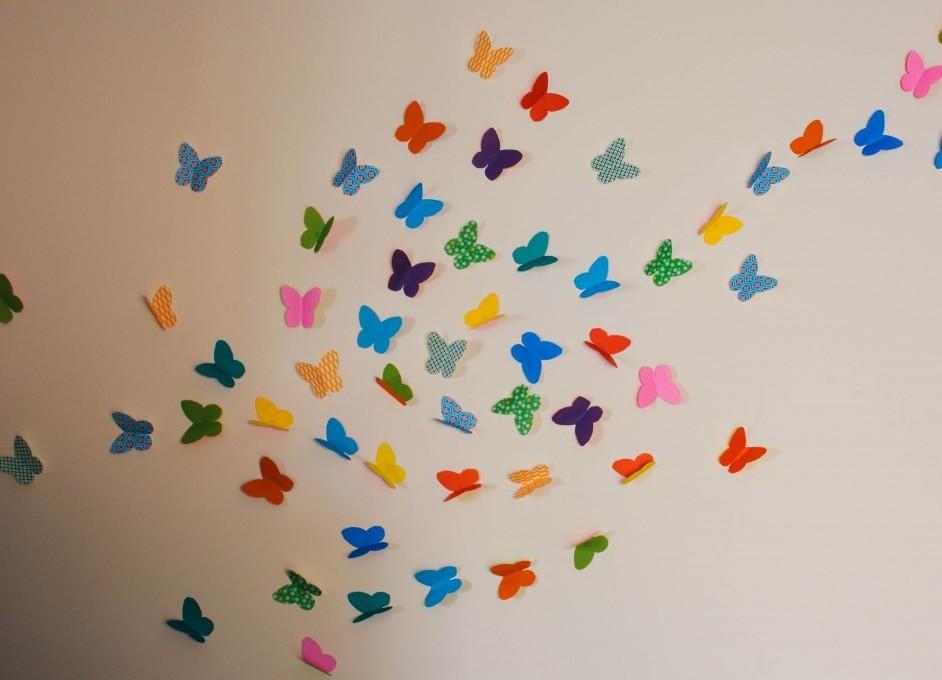 Гирлянды из бабочек своими руками