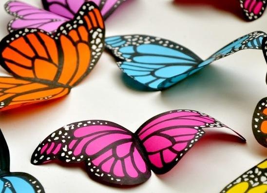 Как раскрасить бабочку своими руками