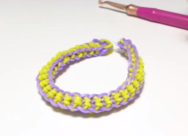 Плетение браслетов бантиком