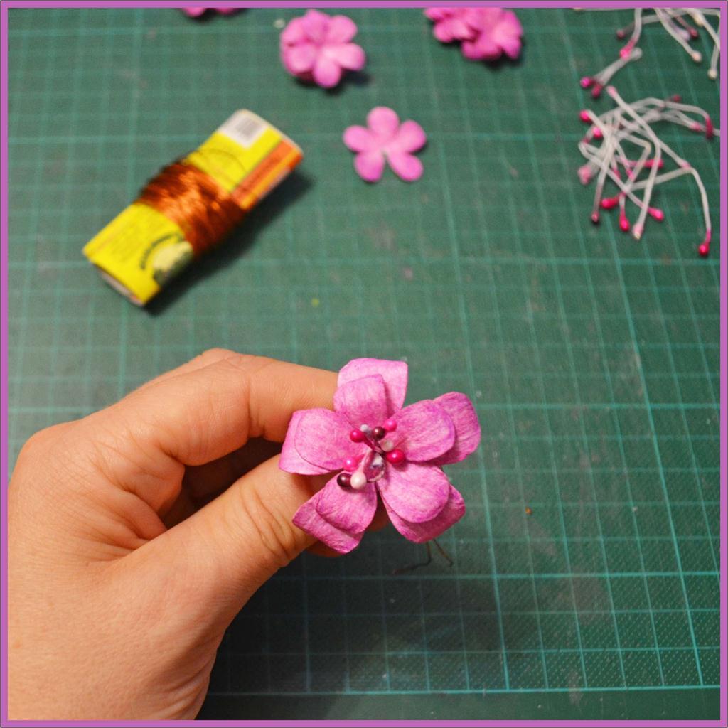 Как сделать цветок в скрапбукинге