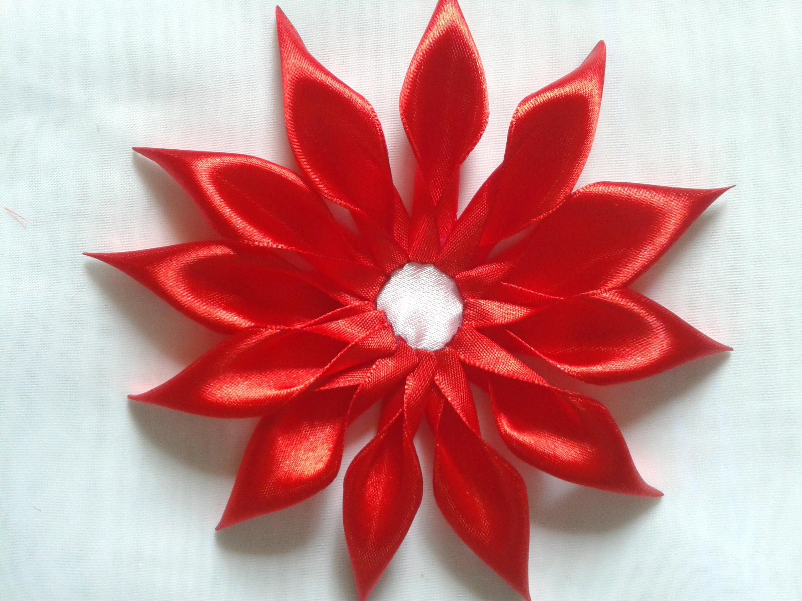 Мастер класс цветочек канзаши