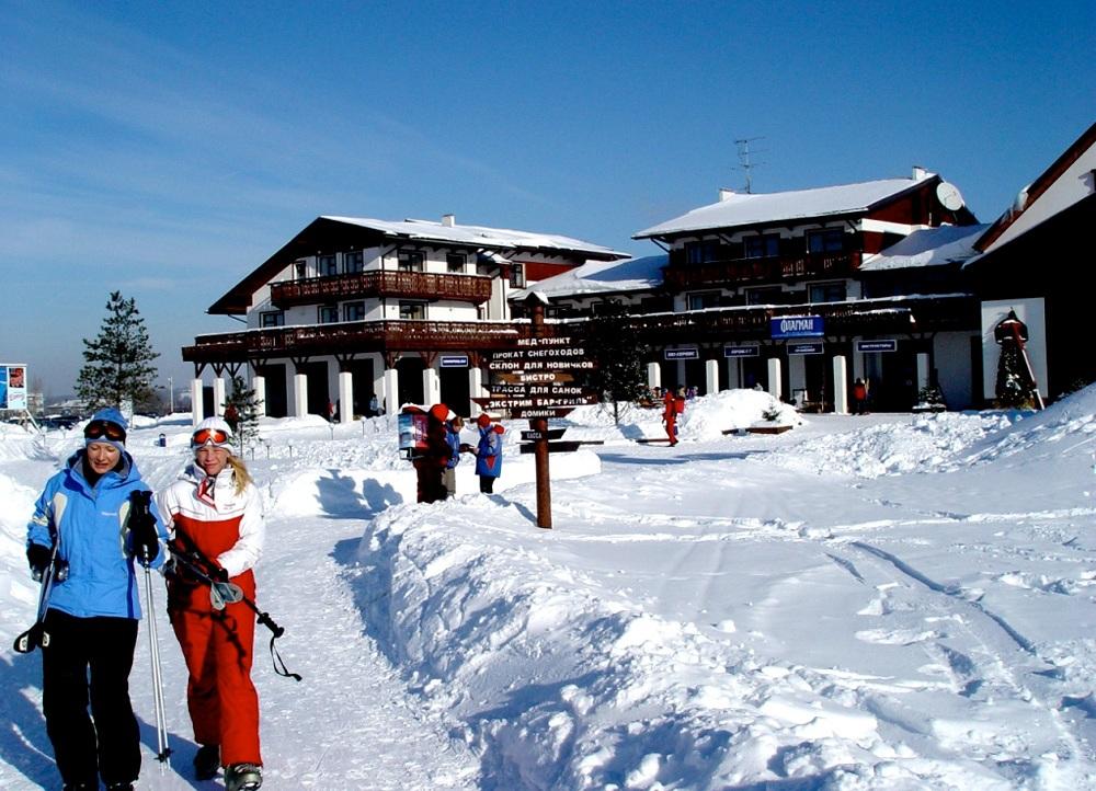 Новый год на горнолыжном курорте подмосковья