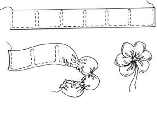 Цветы атласными лентами мастер-класс