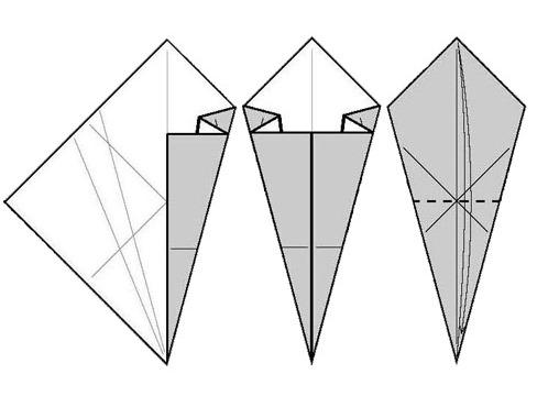 Как сделать кунай из бумаги 2