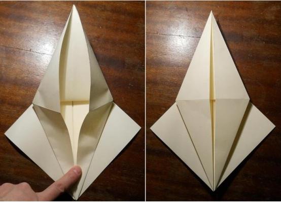 Нунчаки оригами схема