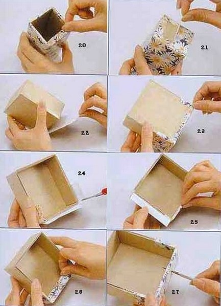 Как сделать шкатулку из бумаги на новый год