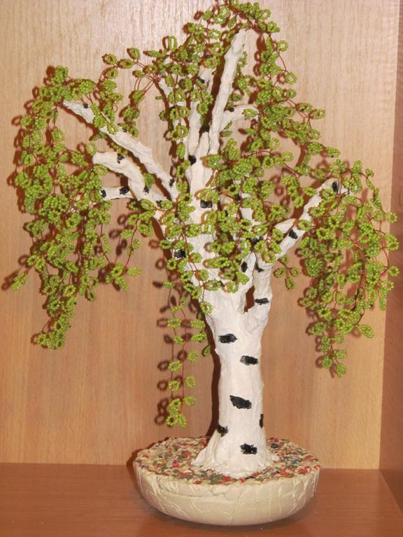 Дерево из бисера своими руками мастер
