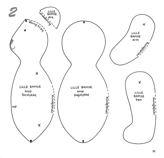 Игрушки своими руками из ткани схемы тильда 66