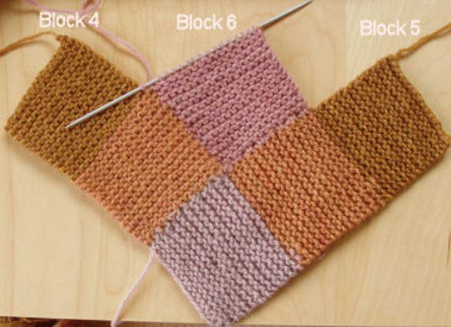 Как связать на спицах квадраты