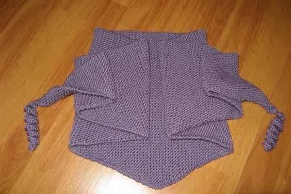 схемы вязания шали спицами