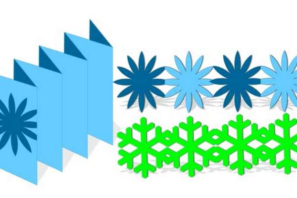 Схема гирлянды снежинок