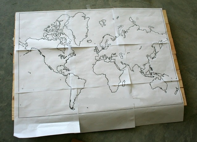 Как сделать карту мира своими руками
