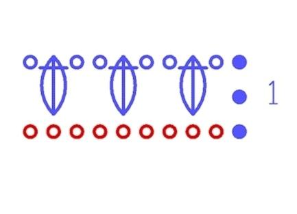 узор шишечки крючком 1