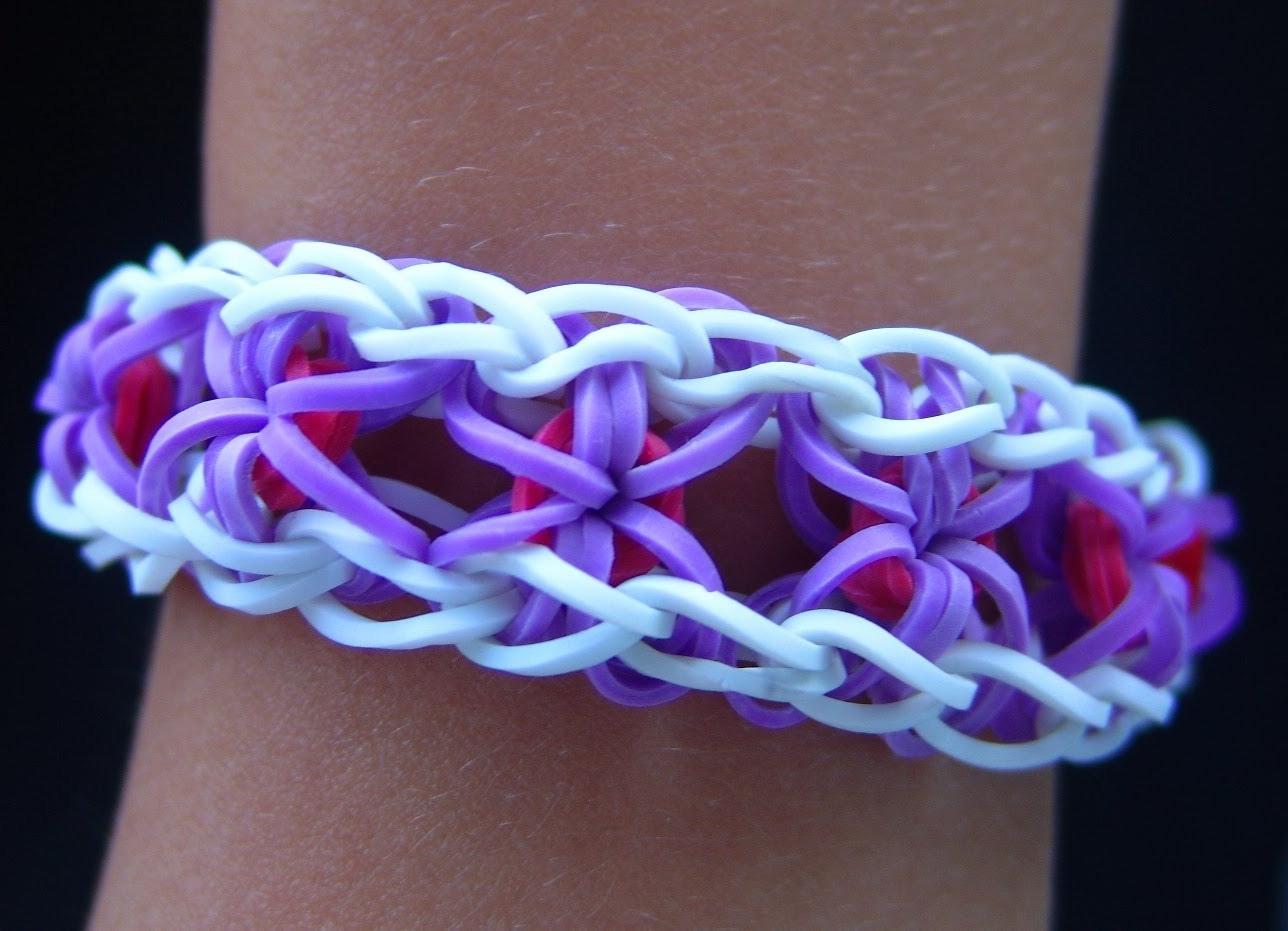 схема плетения браслета с сердечками