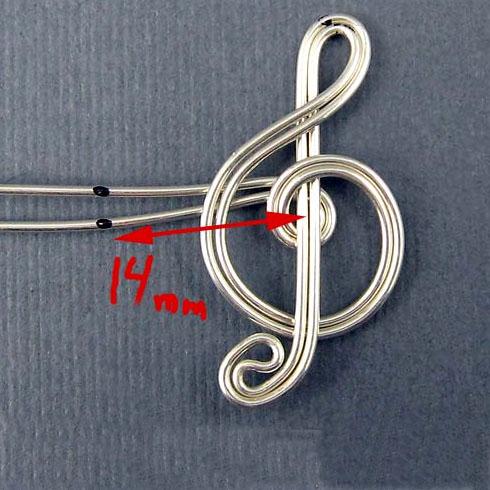 Как сделать из проволоки скрипичный ключ
