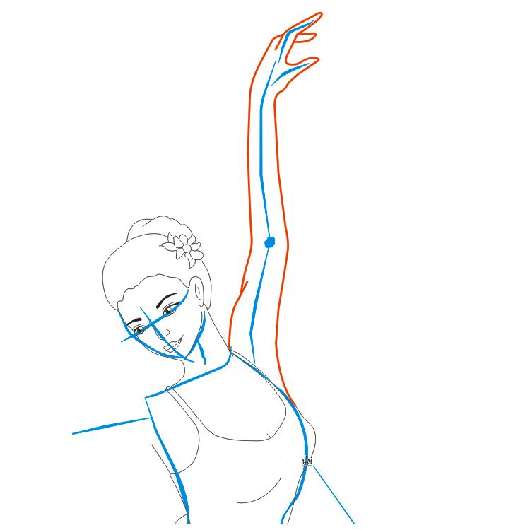 балерина нарисованная
