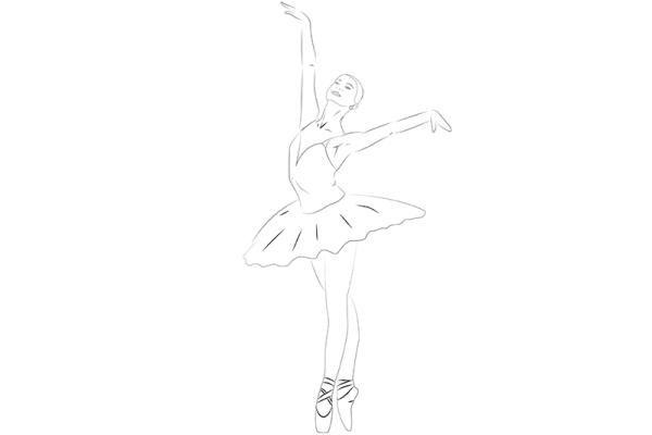 Рисунки карандашом поэтапно балерину