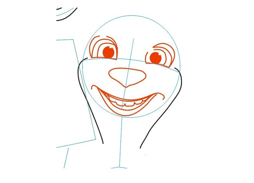Рисовать барбоскиных лизу поэтапно