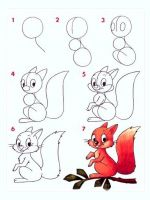 Как нарисовать белку?