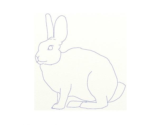 Как рисовать зайца с ребенком