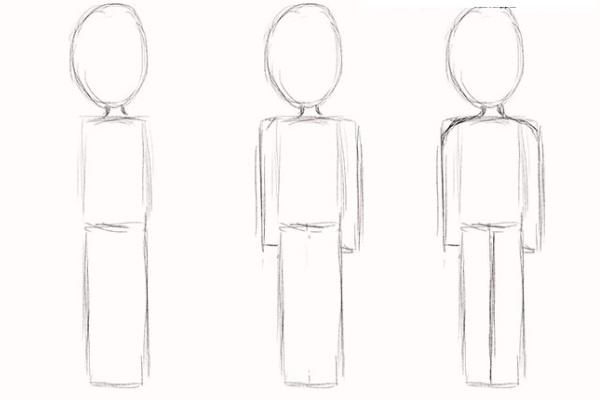 Рисуем карандашом людей тело 145