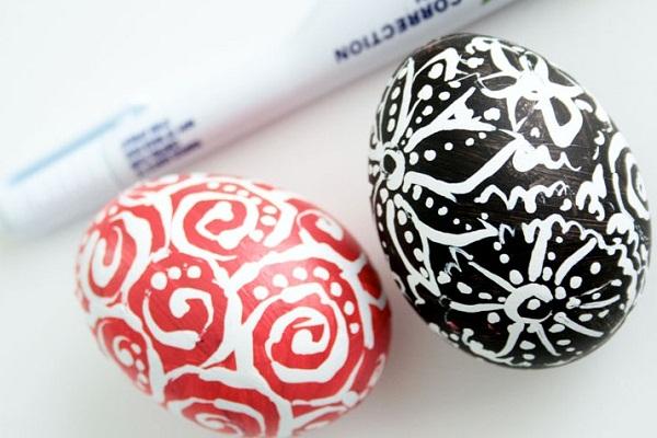 Как разукрасить яйца на пасху 9