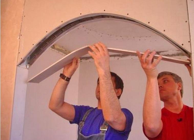 Как самому сделать арку из гипсокартон