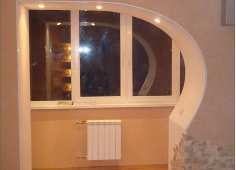 Дизайн проема на балкон..