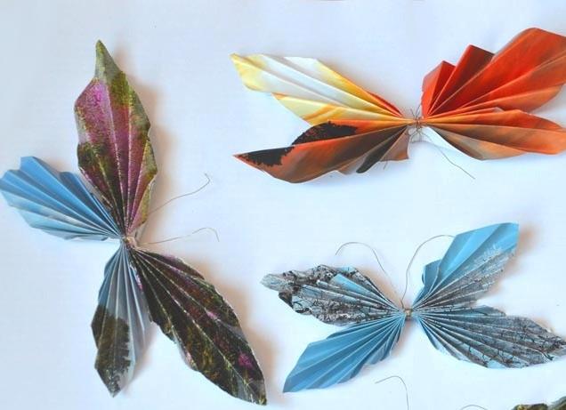Бабочки из салфеток своими руками с пошаговой инструкцией 55