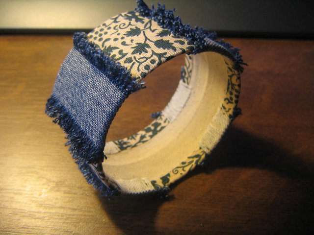 Браслет из ткани своими руками фото
