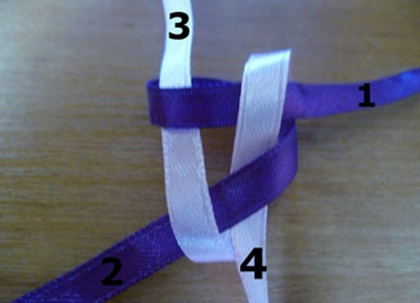 Как сделать брелок из атласных ленточек видео