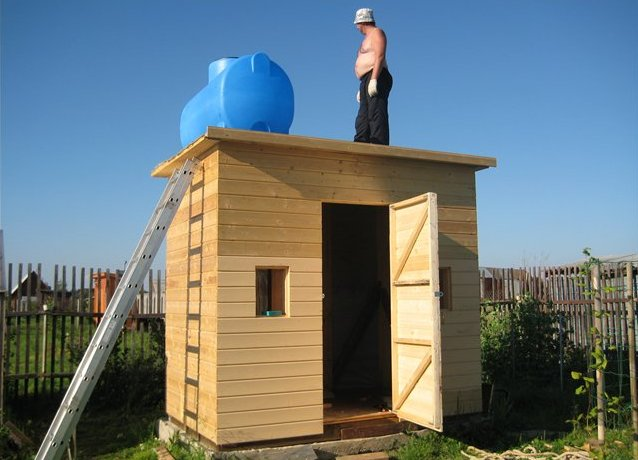 Душ с туалетом для дачи построить своими руками схемы