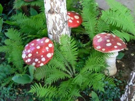 Как сделать грибы на даче