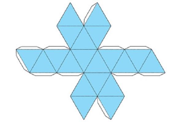 икосаэдр из бумаги: схема