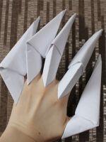 Как сделать из бумаги ногти?