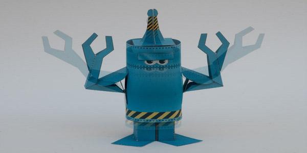 как сделать из бумаги робота
