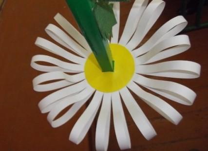 как сделать из бумаги ромашку