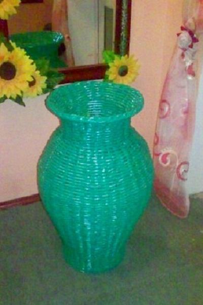 Как сделать напольную вазу