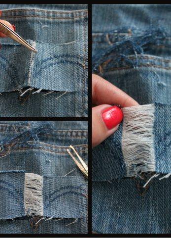 Как сделать дырки на шортах
