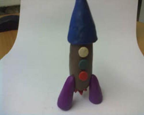 Как сделать ракету пластилина