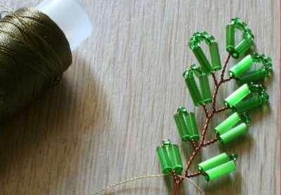Как собрать бисерное дерево 1