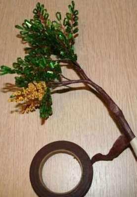 Как собрать бисерное дерево 11