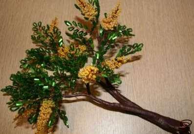 Как собрать бисерное дерево 12